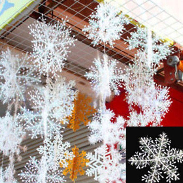 2016 HOMESTIA 30 шт. Рождественские Искусственные Белые Снежинки Снег Строка Рождественский Декор Украшения Xmas Поставки Бесплатная Доставка