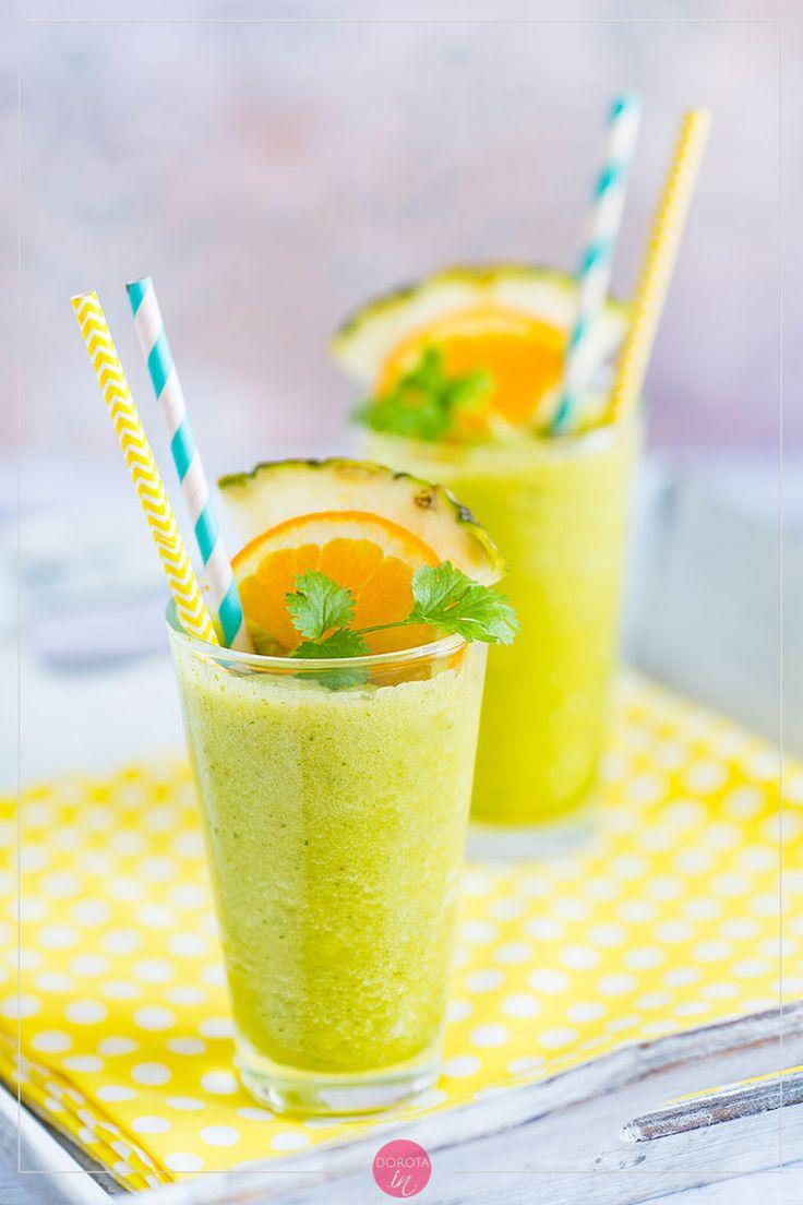 Doskonały koktajl z ananasa. #przepis #ananas #koktajl