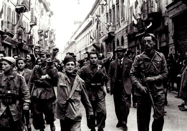 Italian Partisans. Pavia, Italy April 27 1945.  (Guglielmo Chiolini photo).