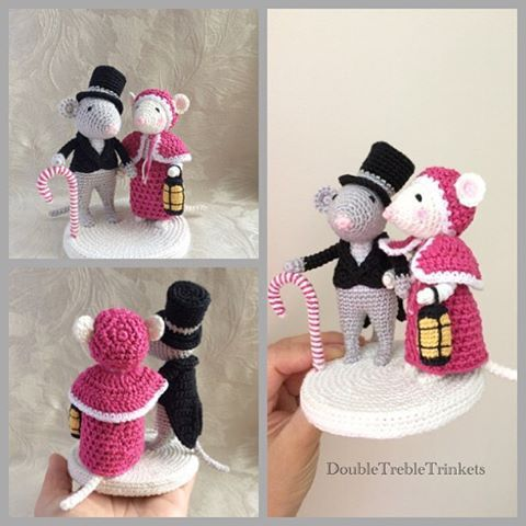 Victorian Christmas? Why not? #christmas #crochet #figurine #victorian #christmasdecoration #crochetchristmas #love #wedding #crochetmouse #commission