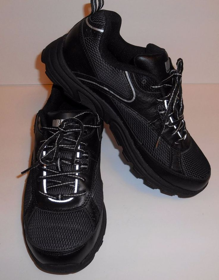 Drew Athena Black Leather Mesh Athletic Shoes Women's Size 9 XW Extra Wide