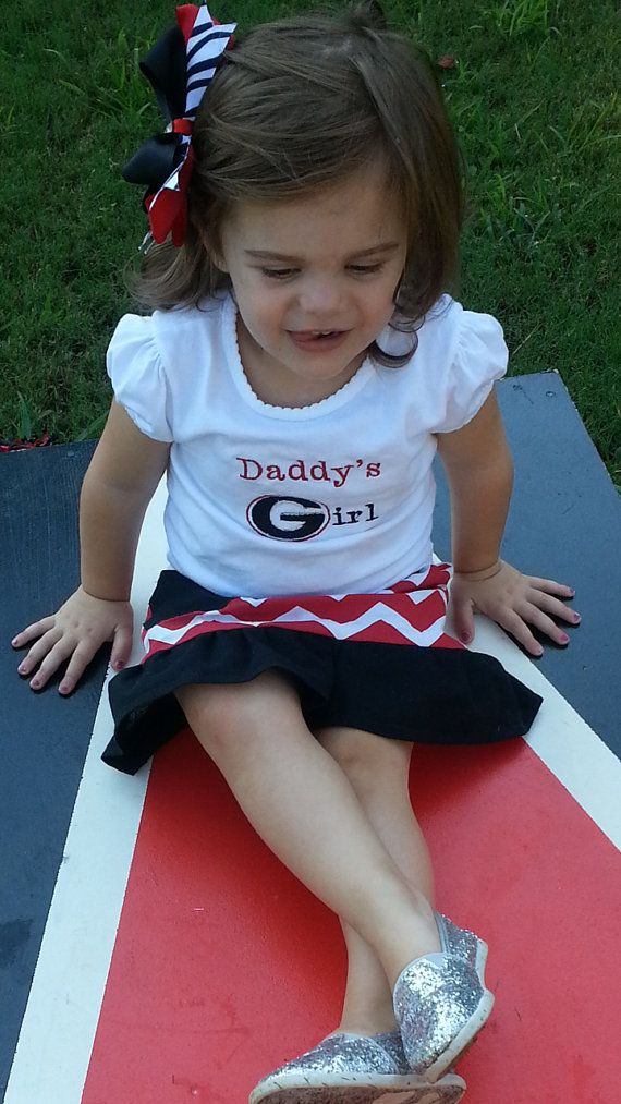 "Georgia Football ""Daddy's girl"" shirt, infant and toddler sizes"