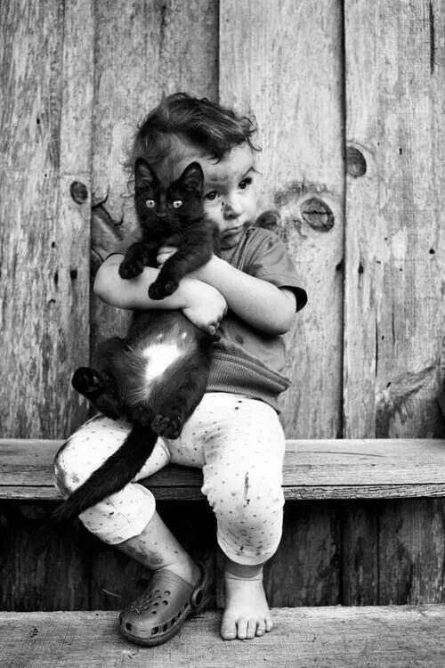 Cat & child ♥