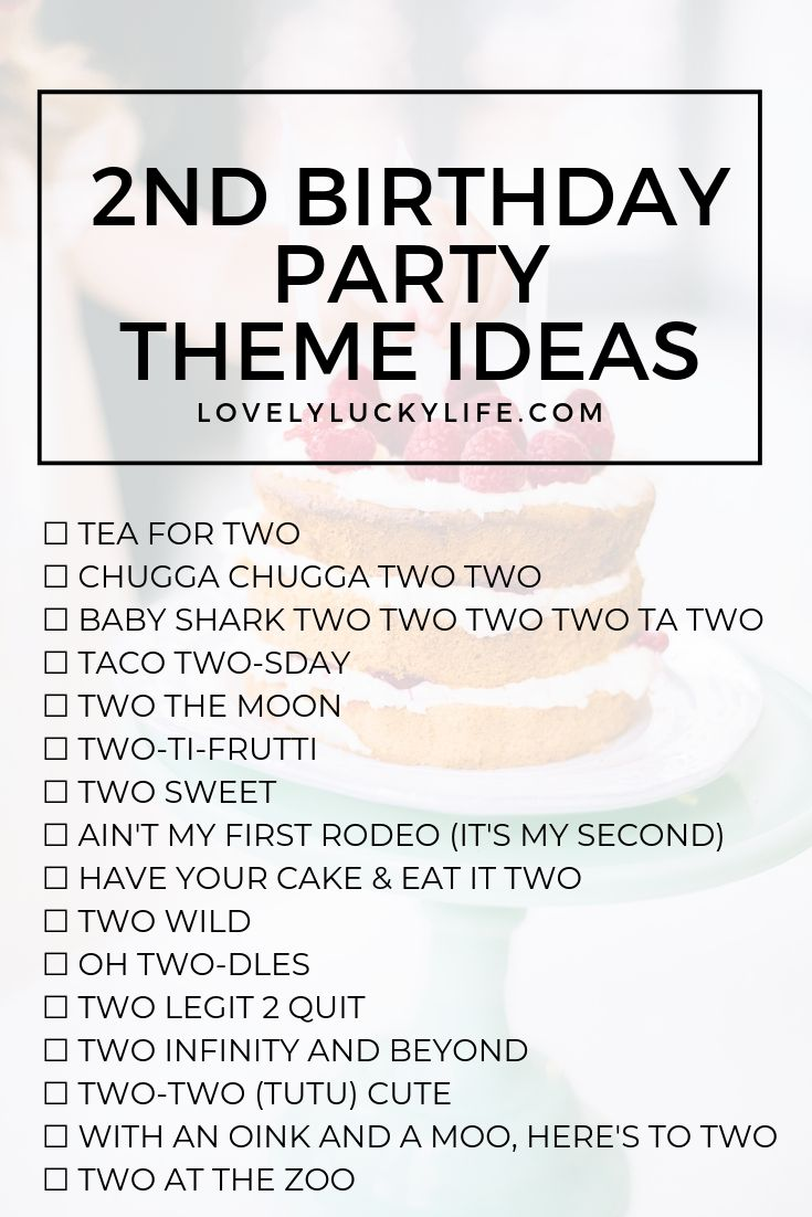 16 Adorable Clever Party Themes For 2nd Birthday 2nd Birthday Party For Girl 2nd Birthday Party For Boys 2nd Birthday Boys