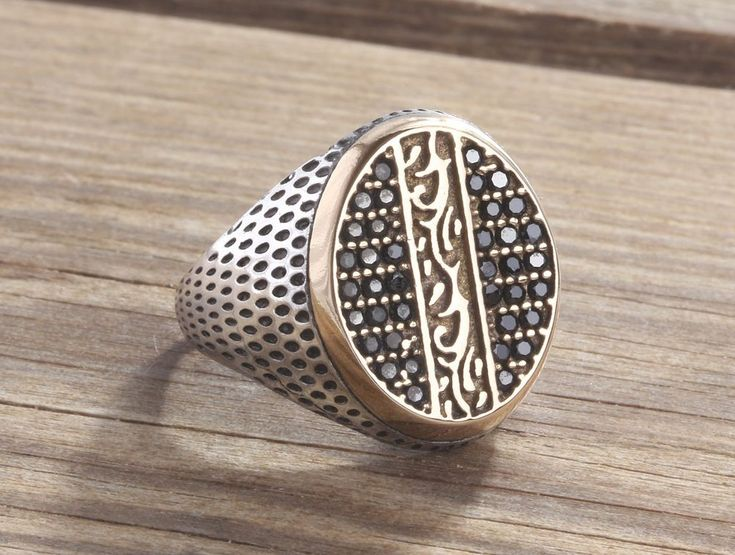 925K Sterling Silver Gemstone Men Ring With Natural Black Onyx Size 8-9-10 US #IstanbulJewellery #Statement