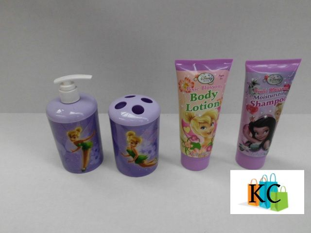 Tinkerbell Gift Set Soap Dispenser, Tooth brush holder, Body lotion, shampoo $28.90 Layby Welcome on All Sets.. $10 per week