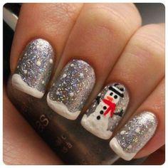 snowman nails ❤️❤️❤️