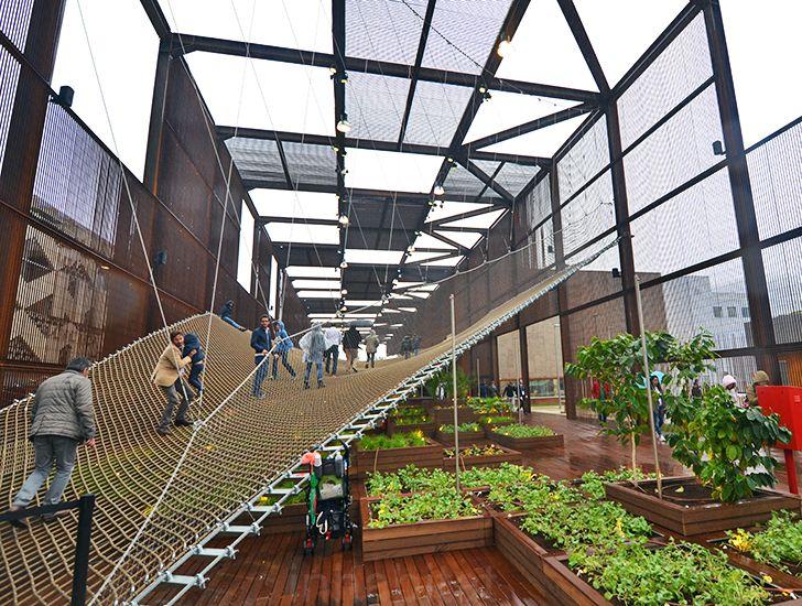 Brazil's porous World Expo pavilion erases boundaries with net...