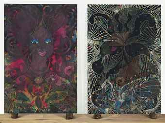 Such a good Chris Ofili dyptich