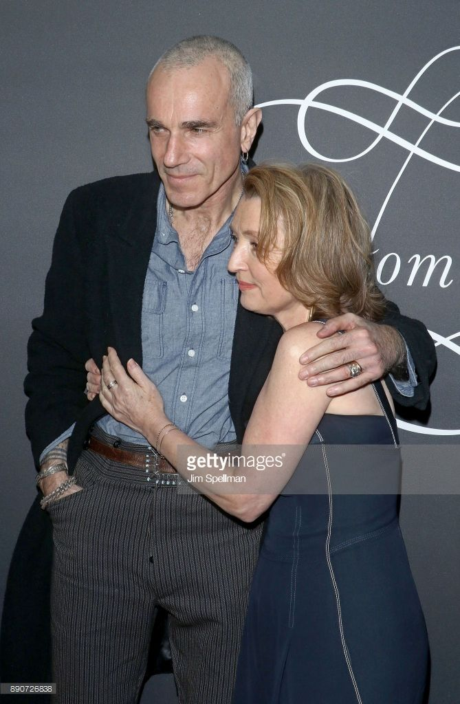 Actors Daniel Day-Lewis and Lesley Manville attend the 'Phantom Thread' New York premiere at Harold Pratt House on December 11, 2017 in New York City.