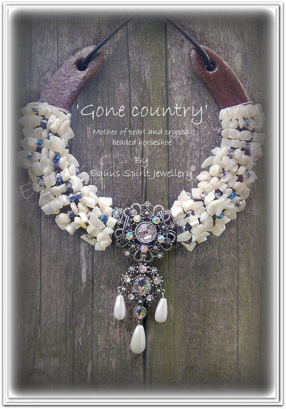 Gone Country Beaded Horsehoe.Home By EquusSpiritJewellery On Etsy