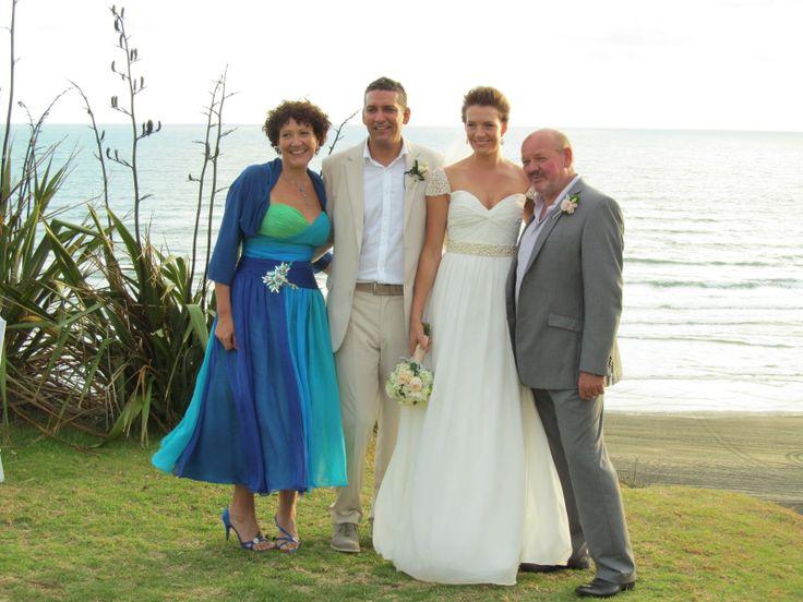 Danella Jade / Castaways / Reem Acra copy / Beige suit / love / beach wedding / family