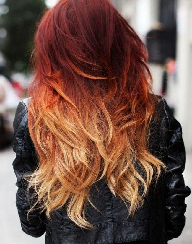 Каре рыже красные волосы