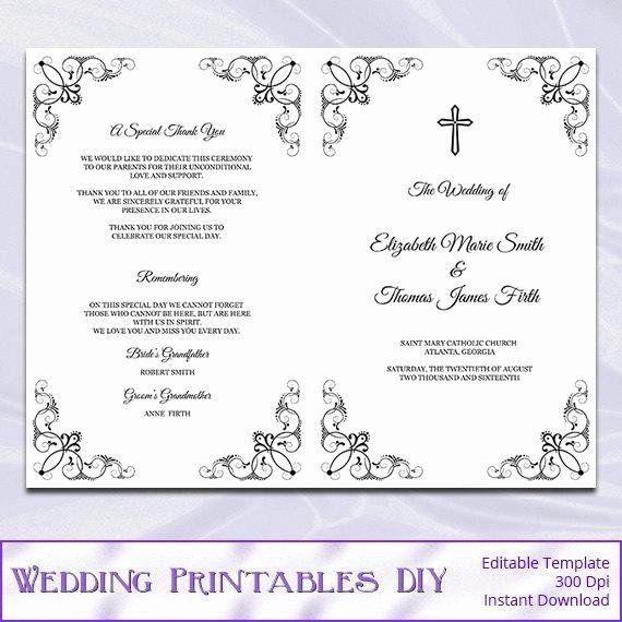 Catholic Wedding Program Templates Free Best Of Catholic Wedding Prog Wedding Ceremony Programs Template Wedding Program Template Free Catholic Wedding Program