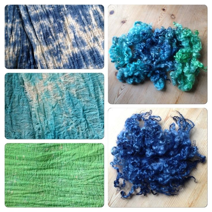Tie-dye, fabric and wool