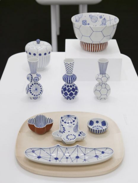 Hand painted pottery - lovely patterns.  Jaime Hayon's 2010 pottery collection for Japanese tableware company Choemon in their factory in Ishikawa, Japan