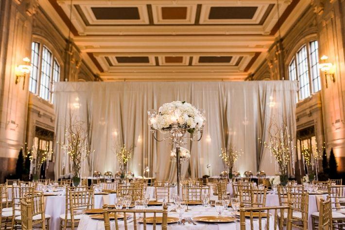 Union Station Kansas City Wedding Reception, Gold Wedding Reception, Urban, Missouri, Photo by Catherine Rhodes Photography, Missouri Based Destination Wedding Photographer