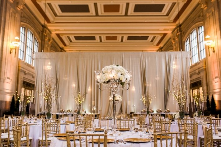 Union Station Kansas City Wedding Reception, Gold Wedding Reception, Urban, Missouri, Photo by Catherine Rhodes Photography, Missouri Based Destination Wedding Photographer