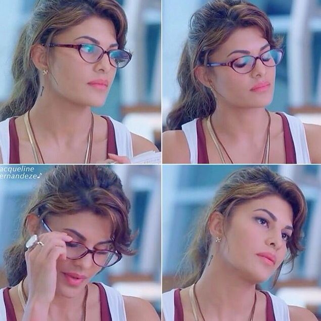 Jacqueline Fernandez looks hot with glasses