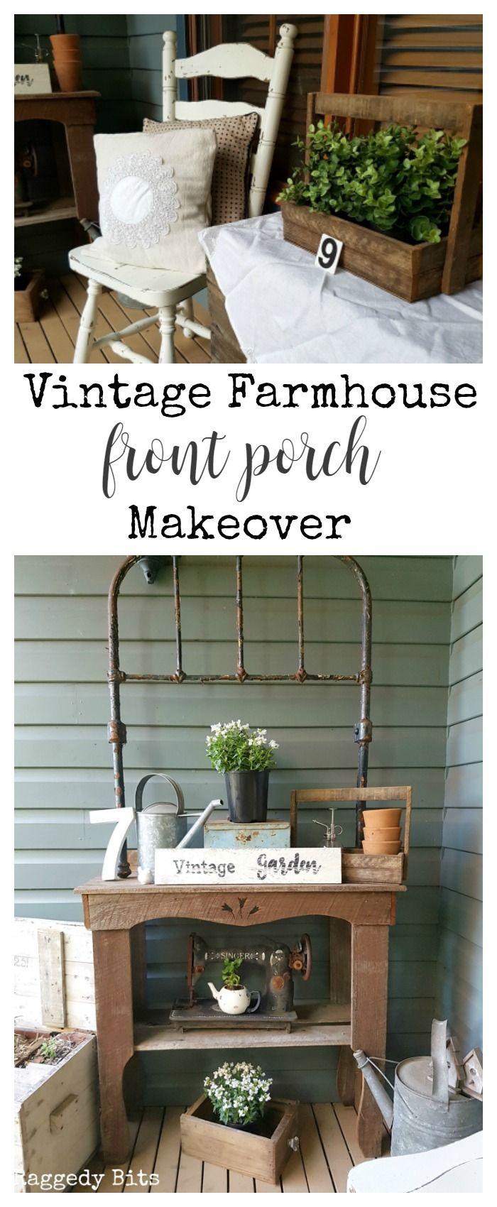 Sharing our fun Vintage Farmhouse Garden Tour that won't break the bank | www.raggedy-bits.com
