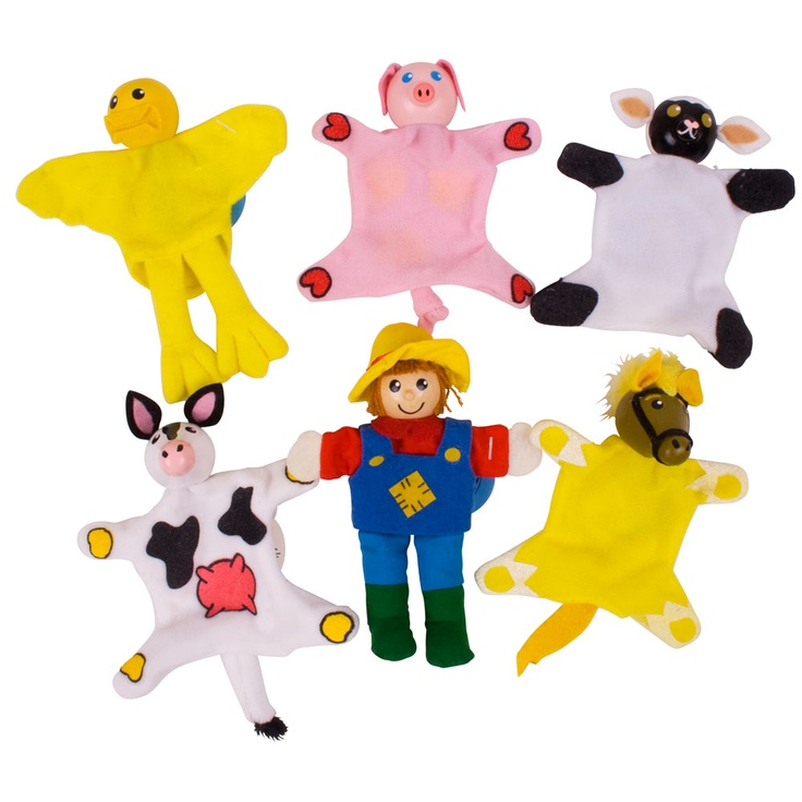 Our Farm Finger Puppets are great for imaginative play; ideal for learning farm yard animals and noises.