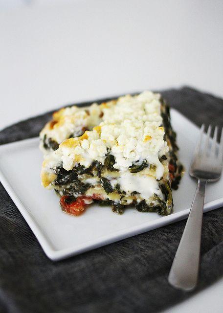 spinach feta lasagna by AMM blog