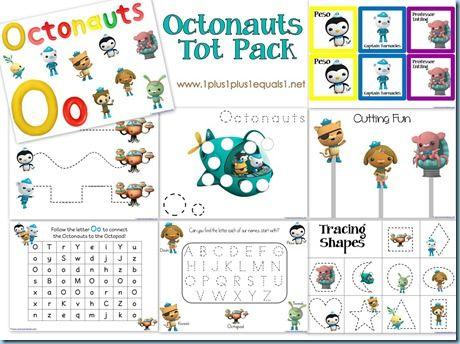 Free Octonauts Tot Pack {post also includes link to KINDERGARTEN pack!}