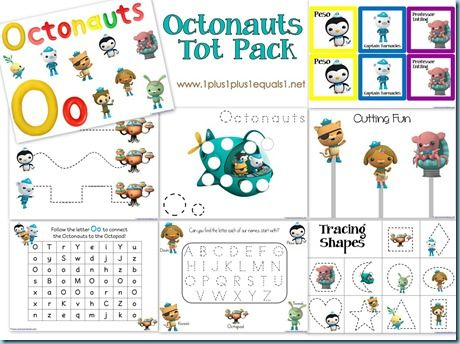 free octonauts printablestot pack post also has link to kindergarten pack - Free Printables For Toddlers