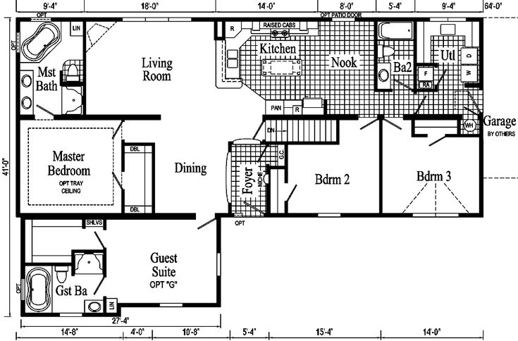 51 best house plans images on pinterest vintage house for Extended family house plans