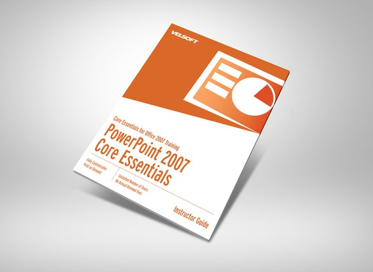 Microsoft Office PowerPoint 2007 Core Essentials Courseware ➜ To DOWNLOAD this Free as a sample click on the image above. #velsoft #courseware #trainingmaterials