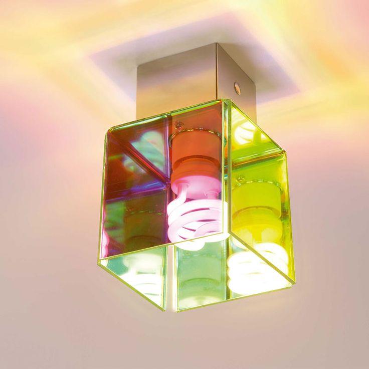Plafoniera da soffitto con paralume in metacrilalto 30W Didodado flash