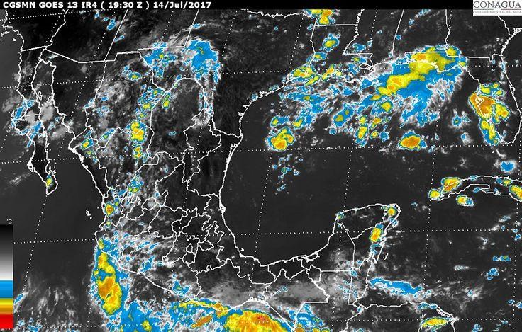 Se prevén, para hoy, tormentas muy fuertes con actividad eléctrica, vientos y posibles granizadas en regiones de Sonora, Chihuahua, Durango, Sinaloa, Guerrero, Oaxaca y Chiapas, y tormentas fuertes en zonas ...