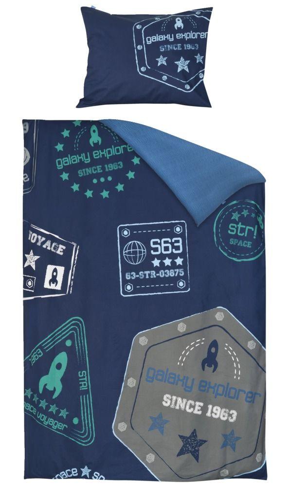 Dekbedset Jop van lief! lifestyle : stoere dekbedset voor jongens met sterren en raketten.