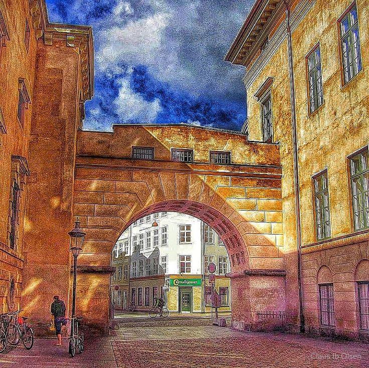 Portal in the old Copenhagen by Claus Ib Olsen