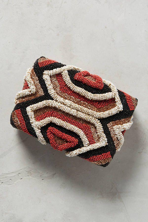 Maliparmi Dimensional Striped Clutch