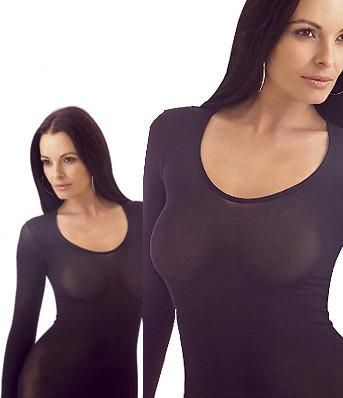 black nylon shirt    2 See Through T Shirts Nylon Pantyhose Fabric    2 sheer T shirts with long sleeves, fabric like a pantyhose, polyamide (nylon) in microfiber quality, made of nylon pantyhose fabric.    one size fits most: XS - small - medium - large, Plus Size    color: black, beige - skin, white, ivory, dark brown
