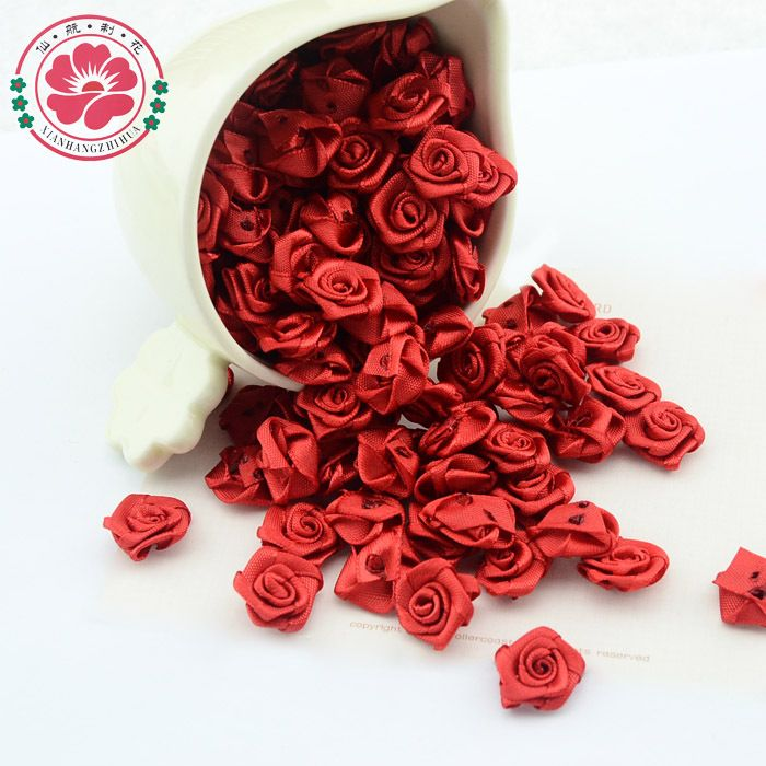 Cheap flower trolley, Buy Quality rose ribbon flowers directly from China rose gold tone jewelry Suppliers:  1-35-1 500pcs/lot Hot Selling Three colors 15mm 15mm Satin Ribbon Flower Rose for crafts clothing flowers&Wedding F