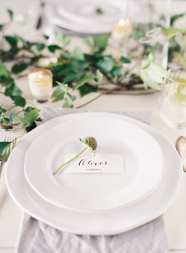 Spring is just around the corner and with this in mind, the botanical and natural trend is really taking over in the wedding world, with couples also wanting more local, seasonal and organic elements to their day. | Byron Loves Fawn Photography on @blovedblog via @aislesociety