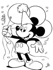 Happy Birthday Coloring Pages Disney Printable Sheets For Kids Get The Latest Free Images