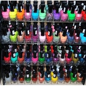 48 Piece Rainbow Colors Glitter Nail Polish Lacquer Set + 3 Scented