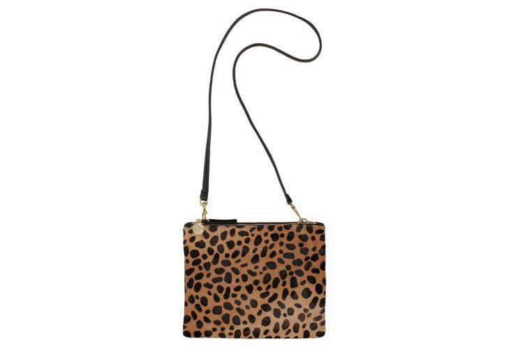 Double Sac Bretelle, Leopard Hair/Black