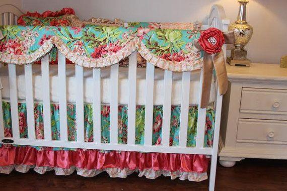 Ruffled Crib Skirts Fancy Crib Skirts Love by RitzyBabyOriginal