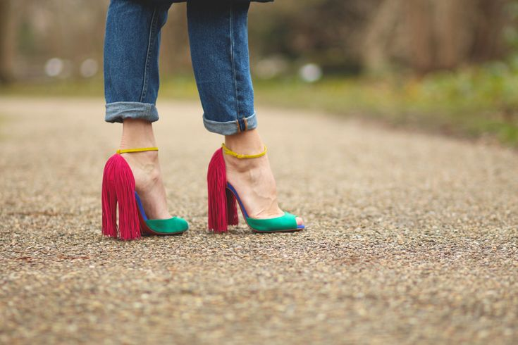 My new Louboutin heels - style name is Otrot, but I call them the parrot shoes
