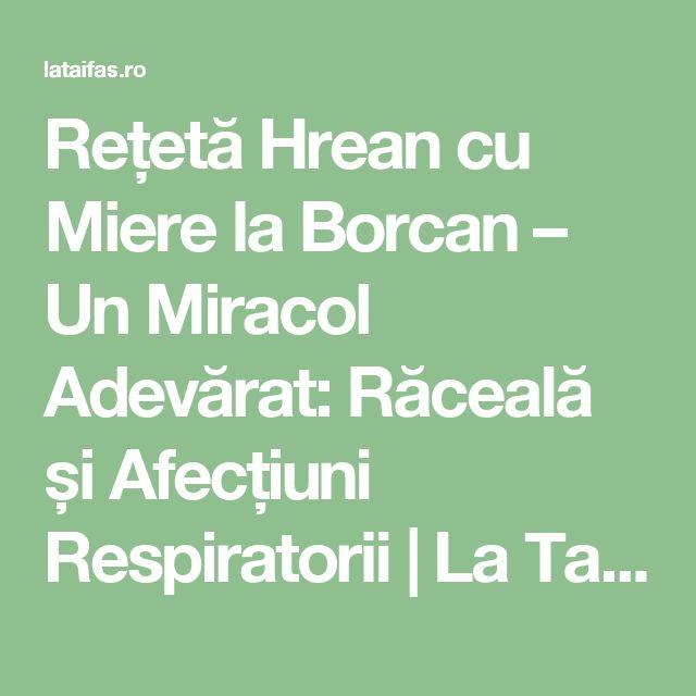 Rețetă Hrean cu Miere la Borcan – Un Miracol Adevărat: Răceală și Afecțiuni Respiratorii | La Taifas