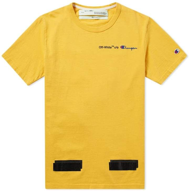 Off White X Champion Tee In 2020 Champion Tees Off White Tees