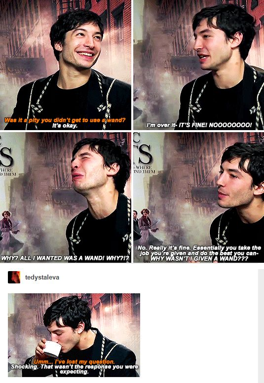 Ezra Miller AKA Credence Barebone from Fantastic Beasts and Where To Find Them AKA the love of my life