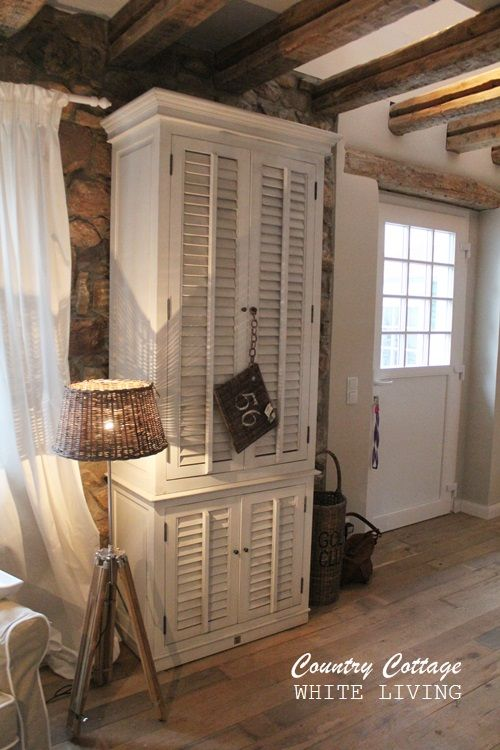 Rustic Farmhouse Living - via White Living:  Country Cottage