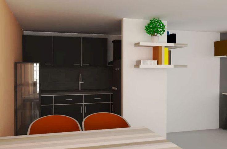 interieuradvies woonkamer leeuwarden appartement zithoek eethoek keuken friesland by Via Lin2