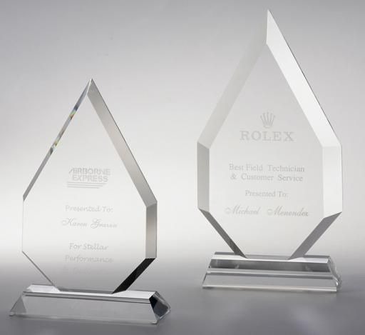 The high flaming crystal awards.. 2 sizes.