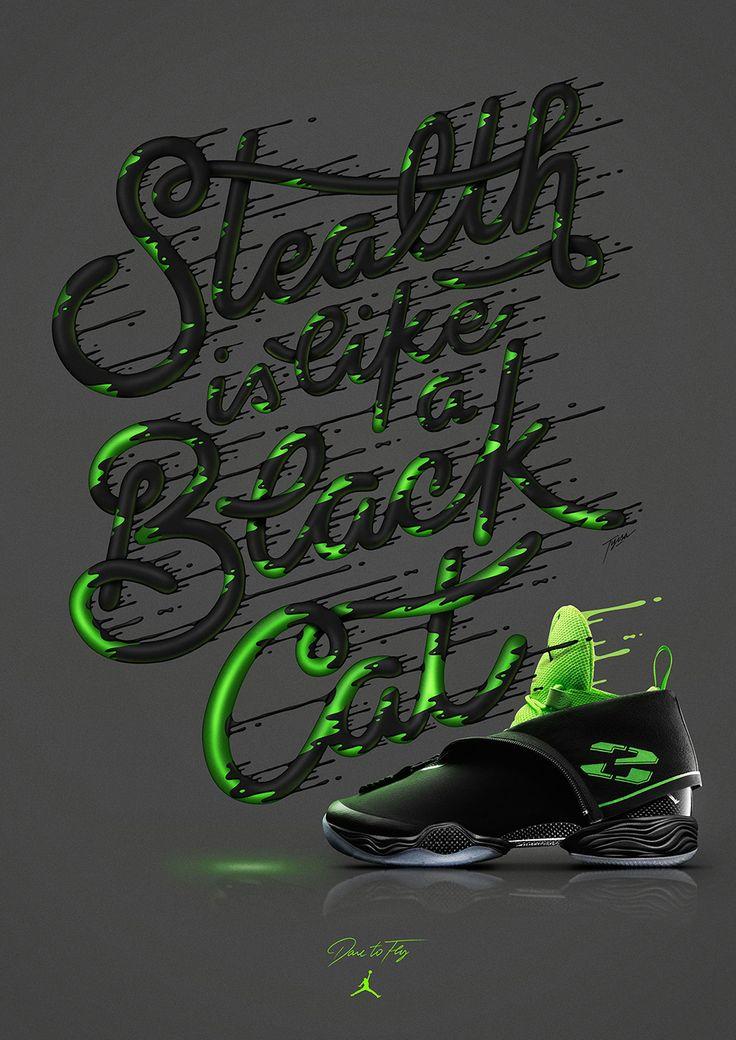 """Stealth is like a black cat"" Alexis Tyrsa for Nike Jordan — Agent Pekka"